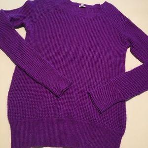 J. Crew Factory Purple Crew Neck Sweater S